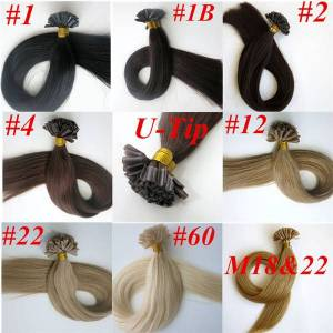 DHgate 100g 100strands pre bonded nail u tip human hair extensions 18 20 22 24inch straight brazilian indian hair extension
