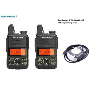 DHgate 2pcs ppt bf-t1+1 cd withprogramming cable portable radio mini walkie talkie dual ham radio communicador two way baofeng t11