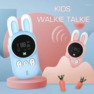 DHgate cute mini kids walkie talkie wireless intercom child toys two way radio station 1-3 km transmitter camping family children gift11