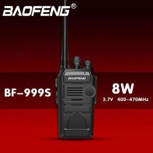 DHgate walkie talkie baofeng bf-999s two - way radio 3 5km 8w 400-470mhz 1800mah cb fm transceiver uhf marine