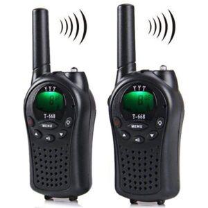 DHgate walkie talkie two way radio 2 pieces t-668 handheld auto multi channel 5km