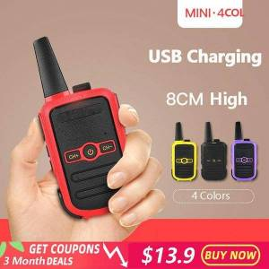 DHgate walkie talkie 4 colors mini wireless wihth 16 channels high power intercom outdoor handheld 3-5km for hunting radio portable