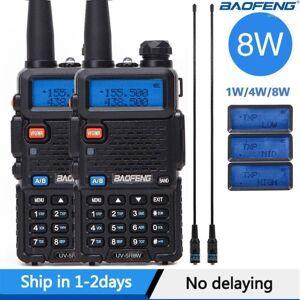 DHgate 2pcs real 8w baofeng uv-5r walkie talkie uv 5r powerful amateur ham cb radio station uv5r dual band transceiver 10km intercom11