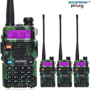 DHgate walkie talkie 4pcs/lot baofeng uv-5r amateur radio portable uv5r 5w 128ch uv 5r dual band long range 10km cb two way