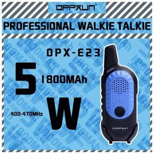DHgate walkie talkie 2021 oppxun e23 cb radio station 5w 10km 128ch dual band two way handheld portable children's gifts