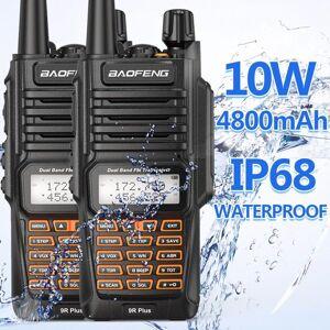 DHgate walkie talkie 2pcs baofeng uv-9r plus 10w 4800mah dual band 136-174/400-520mhz ip68 waterproof ham radio bf-uv9r 10km range