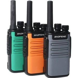 DHgate walkie talkie 2021 baofeng mini bf-v8 bfv8 two way ham cb radio handheld gray green orange intercom uhf hf fm transceiver 10 km