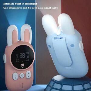 DHgate children's walkie talkie kids mini toys handheld transceiver 3km range uhf radio lanyard interphone baby gift