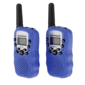 DHgate walkie talkie baofeng bf-t3 2pcs kids 22 channels portable eu two-way radio 3-10km talk range interphone for