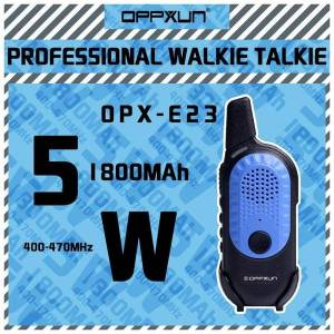 DHgate walkie talkie oppxun e23 mini cb radio station 5w 10km 128ch dual band two way handheld portable children's gifts