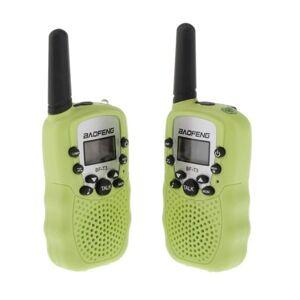 DHgate walkie talkie baofeng bf-t3 2pcs kids 22 channels portable eu two-way radio 3-10km talk range interphone for kids+belt clip