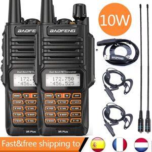 DHgate walkie talkie 2pcs baofeng uv-9r plus 10w ip68 waterproof dual band 136-174/400-520mhz ham radio bf-uv9r 10km range uv-xr
