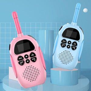 DHgate walkie talkie for kids pink blue cute design usb rechargeable 1000mah 3km range 2 way radio gift children 1 set