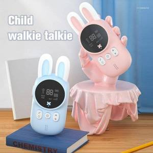 DHgate mini walkie talkie kids toy child phone handheld two way radio 1-3km camping wireless intercom children gifts11