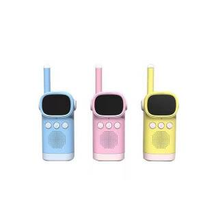 DHgate walkie talkie d20 children kids toy cute wireless operation hd display clear call cartoon appearance 1-3km dialing distance