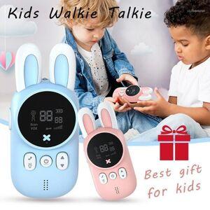 DHgate cute mini kids walkie talkie wireless intercom child radio toys two way 1-3 km transmitter camping family children gift11