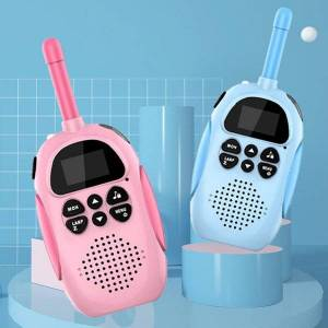 DHgate walkie talkie 1pair kids rechargeable 1000mah handheld 0.5w 3km radio transceiver interphone children educational toys gift