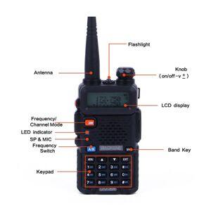 DHgate new portable baofeng uv-5r walkie talkie professional cb radio station baofeng uv5r transceiver 5w vhf uhf uv 5r hunting ham radio