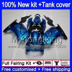 DHgate +tank for kawasaki zx-250r ex-250 zx250r 08 09 10 11 12 201my.0 ex250 zx 250r ex 250 ex250r 2008 2009 2010 2011 2012 fairings glossy blue