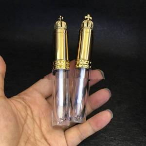 DHgate 20/50pcs 8ml gold crown cosmetic lip gloss wand tube empty clear makeup lipgloss lipstick brush bottle diy beauty eyelash bottle