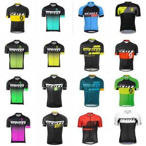 DHgate scott team cycling short sleeves jersey bike clothing quick dry bicycle mountain bike ropa ciclismo c2605