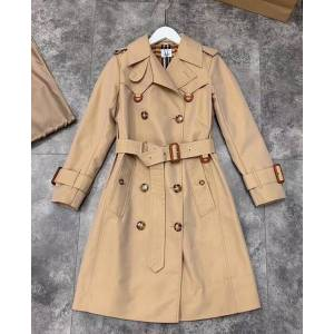 DHgate women's trench coats gabardine long windbreaker belt waterproof new english style autumn winter solid color british double breasted 90x