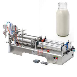 DHgate 110v2 20v double-head liquid filling machine for pneumatic beverage filling machine of juice drink soy sauce vinegar milk olive oil