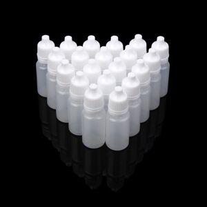 DHgate 50pcs 10ml/15ml/20ml empty plastic squeezable dropper bottles eye liquid dropper refillable bottles
