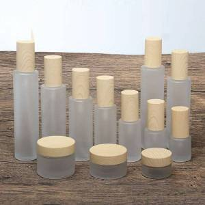 DHgate 2/8pcs 20/30/50g empty makeup cosmetic face cream jar pot 20/30/40/60/80/100/120ml glass toner lotion emulsion bottle abs cover