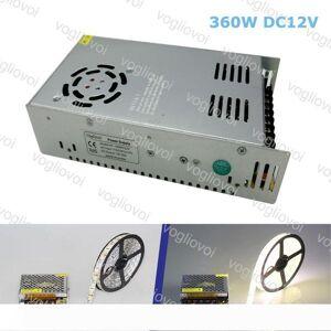 DHgate lighting transformers dc24v 12v 360w aluminum silvery lighting accessories 110v-240v for 3528 5050 5730 strip light dhl