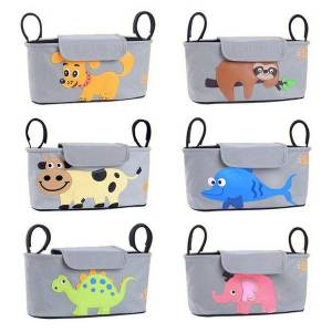 DHgate baby bag mummy diaper cartoon bag hook baby stroller large capacity travel diaper bottle cup holder accessori