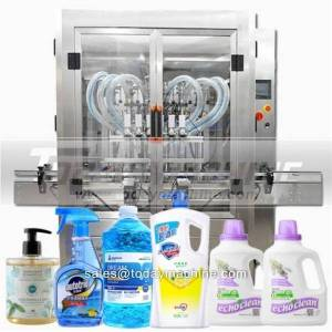 DHgate automatic 100 ml to 1000 ml liquid syrup bottle filling machine line
