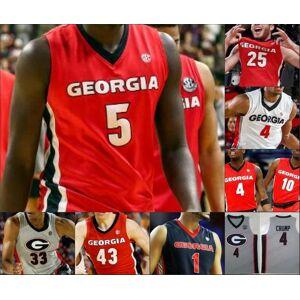 DHgate georgia bulldogs 10 toumani camara 11 jaxon etter 14 tye fagan 15 sahvir wheeler 24 rodney howard uga basketball stitched jersey
