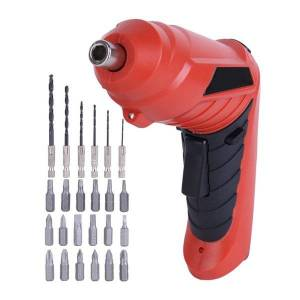 DHgate 3.6v lithium-ion battery cordless electric screwdriver rechargeable power screwdriver twistable handle led torch household diy