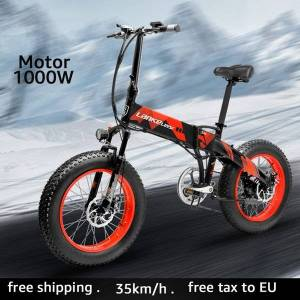 DHgate lankeleisi elektrische fiets 1000w elektrische beach bike 4.0 fat tire elektrische fiets 48v mens mountainbike sneeuw ebike 20 inch