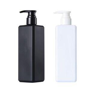 DHgate 1pc liquid soap bottle shampoo bottle lotion pump shower gel holder empty container 500ml liquid soap dispenser black