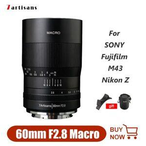 DHgate 7artisans 60mm f2.8 macro lens aps-c for sony fujifilm olympus m43 mirrorless camera for canon eos r eos m50 nikon z6 z7