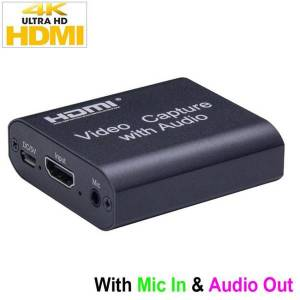 DHgate 4k hd hdmi capture card with audio out 4k 1080p usb 2.0 mic. in & audio out video capture device game record live streaming box