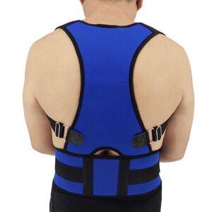DHgate blue xxl posture corrector adjustable shoulder humpback lower back support lumbar orthopedic straighten posture corset unisex1