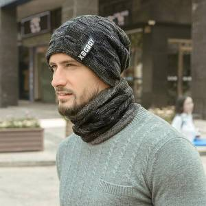 DHgate winter hats hoods snoods velvet and thick woolen caps men's autumn and winter men's knitted hats parent-child outfit bike cap