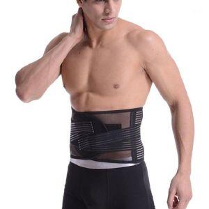 DHgate orthopedic back belt men posture correction belt elastic bandage lower back pain braces supports waist support gym xxl1