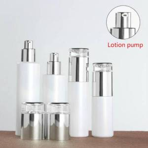 DHgate 50pcs 20-120ml pearl white glass lotion perfume essential oil spray bottle cosmetic eye cream paste jar packaging container