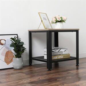 DHgate living room furniture coffee multifunctional iron art stylish steel and wood sofa side table