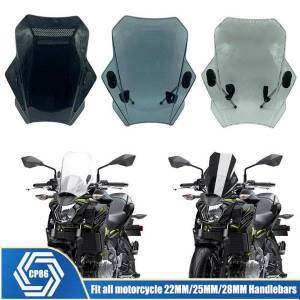 DHgate motorcycle windshield universal for r1200gs f850gs g310r r1150r f800s mt09 mt07 cb500x nc700x nc750x windscreen