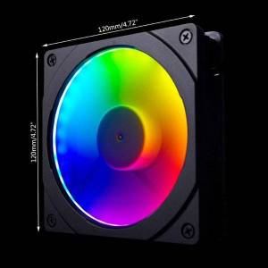 DHgate fans & coolings 157c 120mm/140mm rgb colorful led rainbow color fan halos aperture for 12/14cm synchronous motherboard control