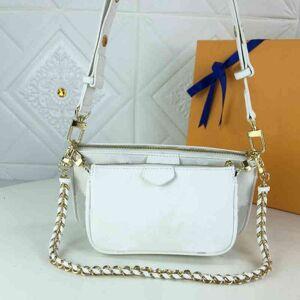 DHgate design handbag 2 in 1 womens shoulder chain embossed letter flower canvas multi pocket crossbody s female tote bag clutch handbag purses