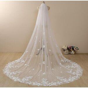 DHgate bridal veils vintage flowery wedding veil, blusher floral cathedral veil,floral lace 2 tier veil,flowery chapel veil,lace leng