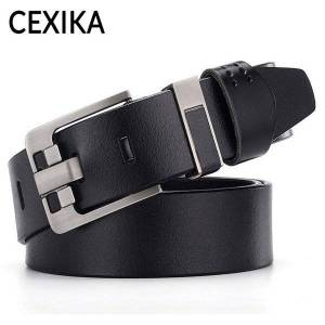 DHgate belts men alloy pin buckle belt real genuine leather for jeans waist male vintage cowskin 160 170 120 130 140 150cm straps 2021