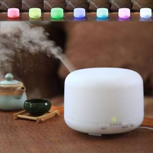 DHgate 300ml essential oil aroma diffuser 2 levels adjustable mist maker ultrasonic air humidifier with 7 colors led night light