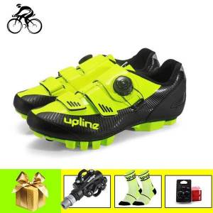 DHgate cycling sneakers men mountain bike shoes breathable self-locking sapatilha ciclismo mtb spinning riding outdoor bicycle footwear